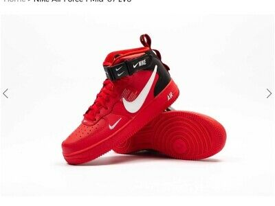 the best attitude 25151 710fd NIKE AIR FORCE 1 MID  07 LV8 UNIVERSITY RED  WHITE-BLACK 804609-