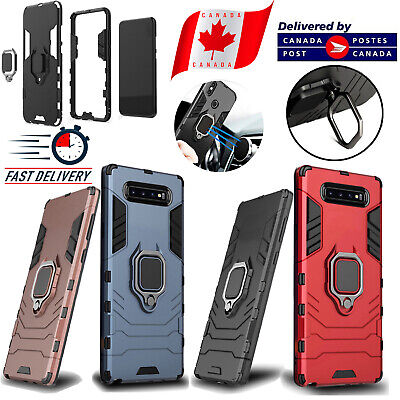 Samsung Galaxy S10 /S10e /S10+ Plus Hybrid Hard Armour Magnetic Ring Holder Case