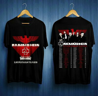 RARE ITEMS 2019 Rammstein Europe Stadium Tour 2019 Dates T-SHIRT S-5XL