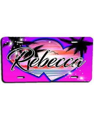 G034 Personalized Airbrush Basketball License Plate Tag