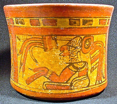 Large Pre-Columbian Maya Pictorial Vase Ex Sotheby's '80