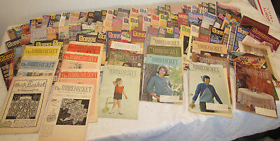 VINTAGE LOT 96 THE WORKBASKET MAGAZINE MOSTLY 1980'S some 50's 60's 90's Craft