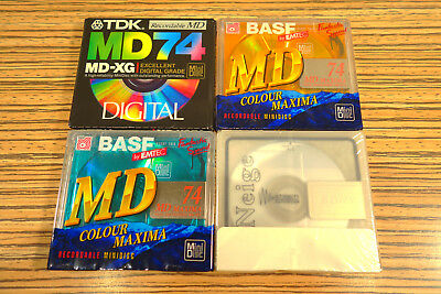 4 Sony + Mix Minidisc in Folie >   (64) Maxell Basf