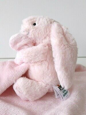 Little Jellycat - Bashful Pink Bunny Soother - Soft  Plush Blanket
