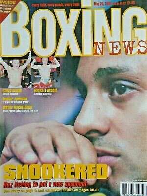 BOXING NEWS - 29 MAY  1998 -  COLIN DUNNE , MICHAEL BRODIE   free p&p to uk