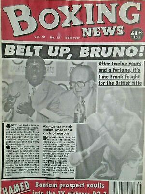 BOXING NEWS - 15 APRIL  1994 - BRUNO, HAMED,S   ETC    free p&p to uk