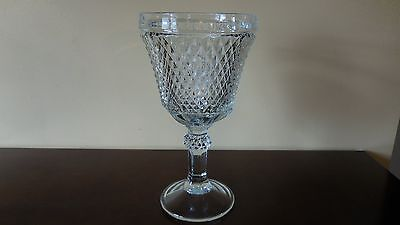 Vintage Indiana Glass Diamond Point Compote Pedestal Dish  11""