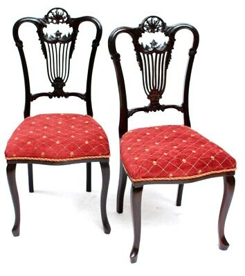 A pair of Antique Chippendale Mahogany Chairs - FREE Shipping [P5068]