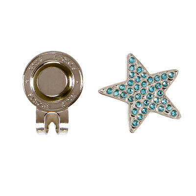 Stable Golf Hat Clip with Detachable Magnetic Golf Ball Marker Star Style