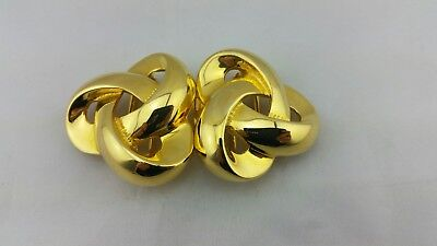 Vintage DOUGLAS PAQUETTE Gold Plated BELT BUCKLE Twisted Ribbon Design