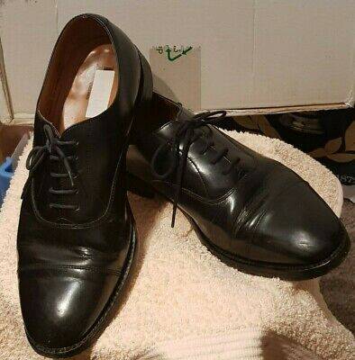 Kleidung & Accessoires Herrenschuhe Loake Ayr Black Leather Toe Cap Oxford Shoes Uk10.5 Made In England Lightly Worn