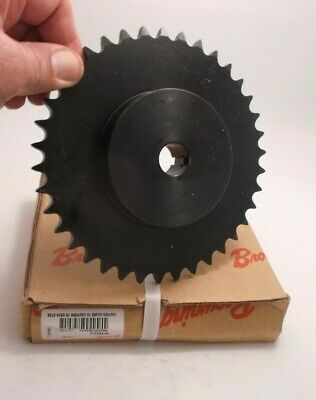 "BROWNING 4038X3/4 Finished Bore Sprocket w/ Keyway 3/4"" Bore - 40 / 1/2 in - 38T"