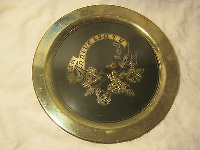 vintage ONEIDA U.S.A. silverplated silver-plate tray dish 25th Anniversary