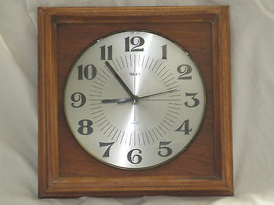 Vintage TRENKLE West Germany wooden wood retro clock German hanging classic