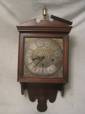 *not tested parts / repair ? vintage Linden wall clock Germany Roman Numeral