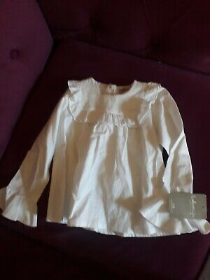 Laormiga Designer 100% Cotton White Top Age 4 Years - Bnwt