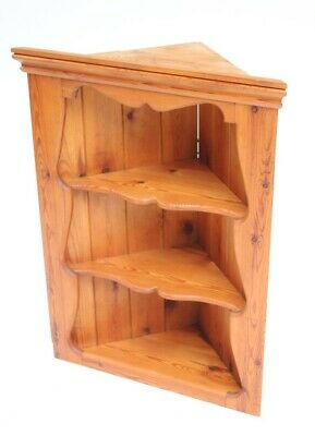 Vintage Pine 3 Tier Corner Shelf Display Unit - FREE Shipping [PL5069]
