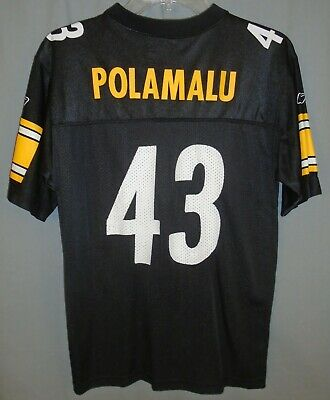 f2af458fd Reebok Pittsburgh Steelers Troy Polamalu  43 NFL Jersey Size Youth Large 14- 16
