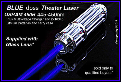 Engineering/Construction BLUE LASER w/Focus+Glass Lens+Rechg+Goggles+Case Outfit