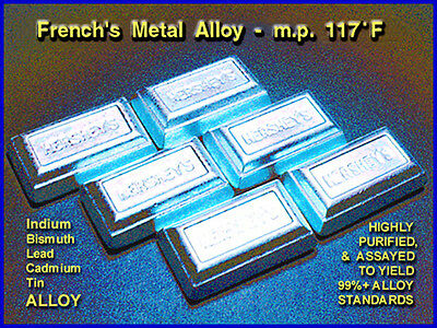 AMALLOY CERROLOW METAL ALLOY / m.p. 117°F / Very Low Melting Temperature / 200gm