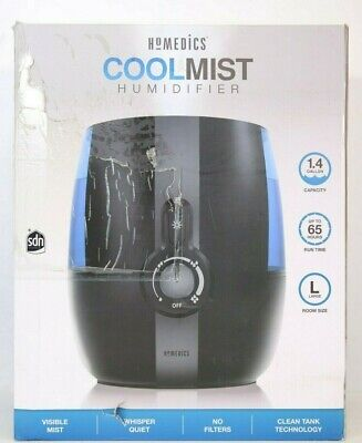 PowerPure 5000 Warm & Cool Mist Ultrasonic Humidifier Permanent Filter LCD Display Remote Control Included Black
