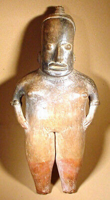 Pre-Columbian Tall Pihuamo Figure Mexico  Ex Sothebys '78