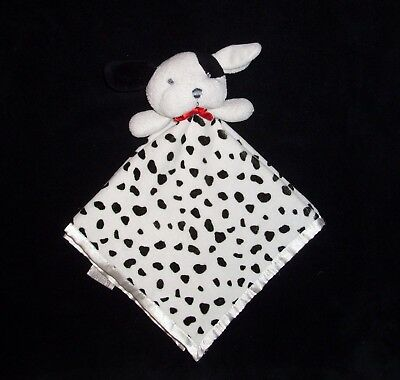 b72f024e0 CARTER'S DALMATIAN PUPPY Baby Security Blanket Lovey Black White ...