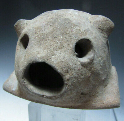 Pre Columbian Taino Pottery Howler Fragment from a Large Olla ca. 1200-1500 AD