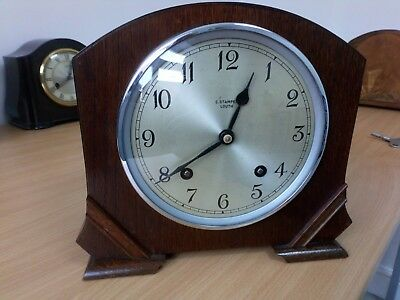 Garrard Striking 8 Day Wooden Mantle Clock Fwo