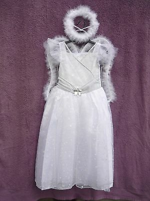 BNWT Girls Angel Fairy Princess Fancy Dress Dressing Up Christmas Costume Outfit