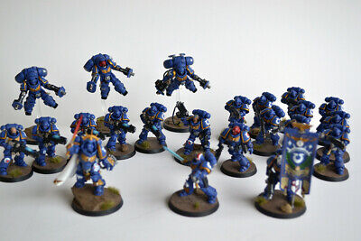 Warhammer 40K WH40K Ultramarines Dark Imperium Space Marines Painted