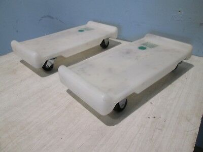 """Lot Of (2) """"New Leaf 2175"""" Heavy Duty Commercial Poly Ingredient Bin Dolly"""