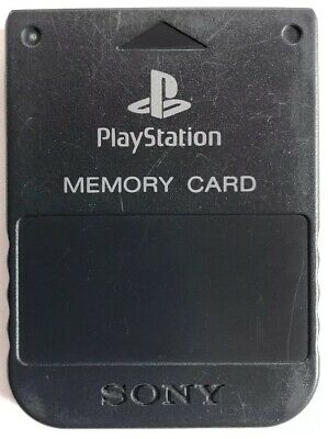 Official OEM Genuine Sony PlayStation 1 PS1 PSOne Memory Card SCPH-1020 Black