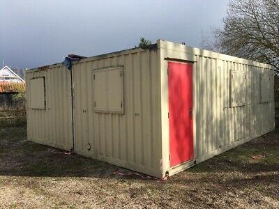 Portable Site Cabin Office Modular Building Classroom 24ft x 20ft Anti Vandal