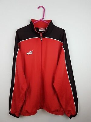 52096271a65b Vtg Retro Mens Usa Red Puma Athletic Sports Zip-Up Tracksuit Top Jacket Uk  2Xl