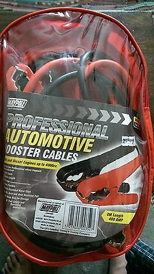 Maypole Professional Car Jumper Leads  Booster Cables 3.0 metre 100% COPPER+BAG