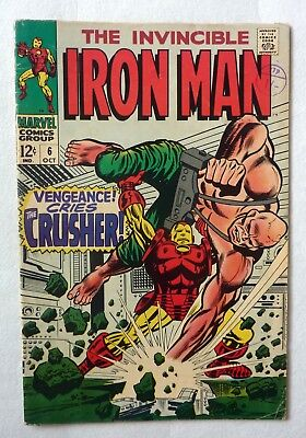 Iron Man 6 Silver Age NF/FN Condition 1968