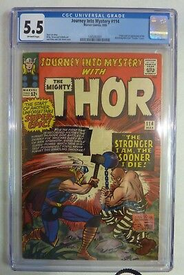 Thor Journey Into Mystery 114 Silver Age Marvel 1965 CGC 5.5 Graded Copy