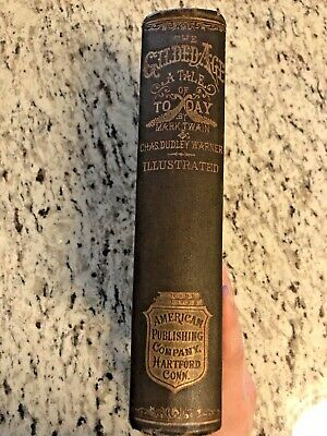 """1881 Antique Book """"The Gilded Age: A Tale of Today"""" by Mark Twain"""
