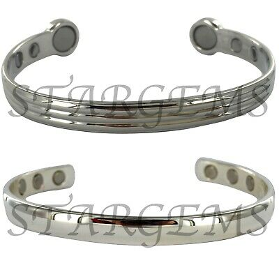 Set Of Two Pure Copper Magnetic Bracelet Arthritis Pain Relief Bangle Celtic Bio