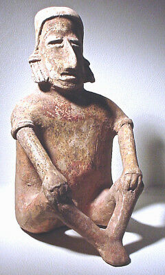 Tall Pre-Columbian Jalisco Figure Ex Sothebys '78