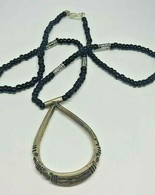 Ancient engraved silver necklace pendant very stunning