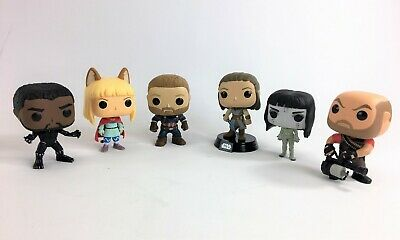 Lot of 6 Funko Pop! Collection of Different Vinyl Figures