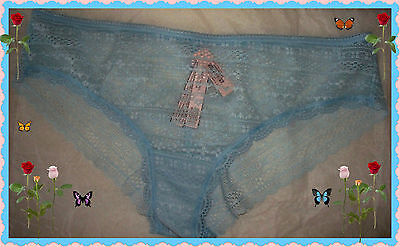 Large Soft Baby Blue THE LACIE All Lace Cheeky Lowrise Victorias Secret Pantie
