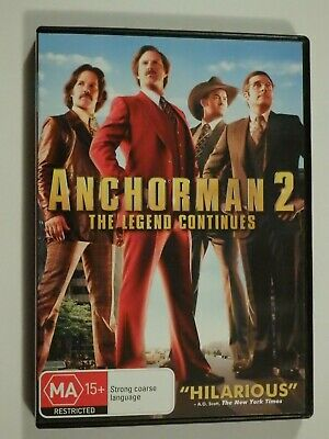 Anchorman 2 The Legend Continues DVD Feat Will Ferrell Steve Carell LIKE NEW