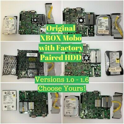 Microsoft Xbox Original Motherboard ALL VERSIONS V1.0 - 1.6 w/ Paired Hard Drive