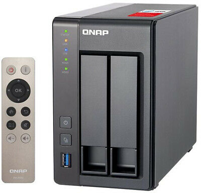 QNAP TS-251+ 4G 2 Bay Diskless NAS Quad-core 2.0GHz CPU 4GB RAM