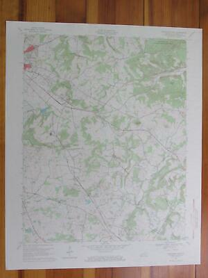 Princeton East Kentucky 1969 Original Vintage USGS Topo Map