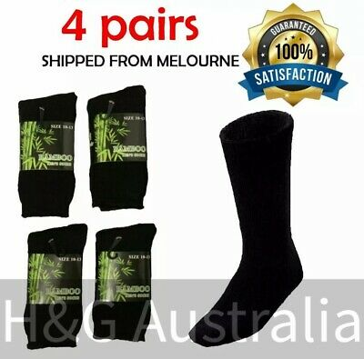 Bamboo Work Socks Men's Bamboo Socks Heavy Duty Thick Winter Socks 4 Pairs