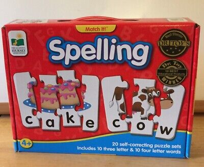 Spelling Game Complete The Learning Journey Dr Useful Match It Toy Winner